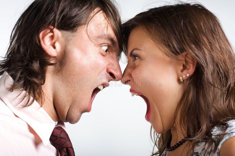 Divorce affectueux photos stock