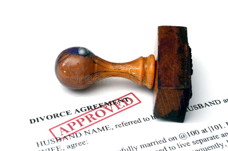 Divorce agrement royalty free stock photography