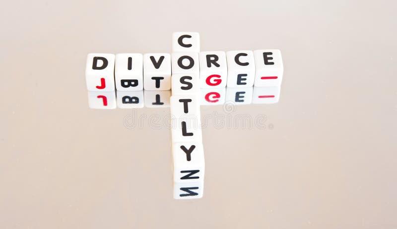 Divorce coûteux photo stock