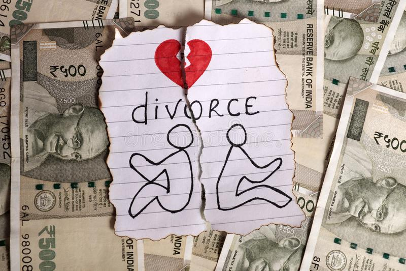 Divorce. Concept shot of couple divorce stock photo