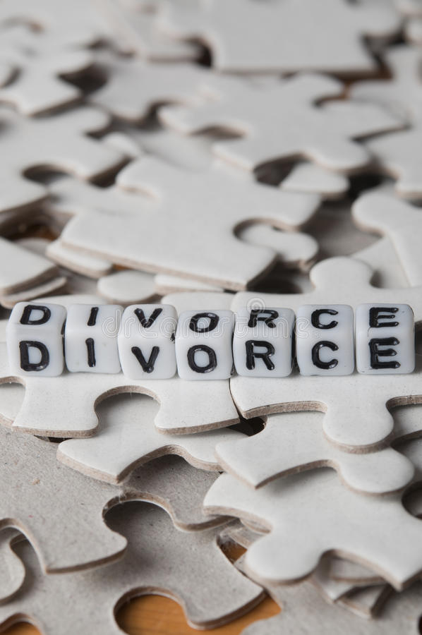 Divorce. Conceptual image representing the complexity of a divorce settlement stock photo