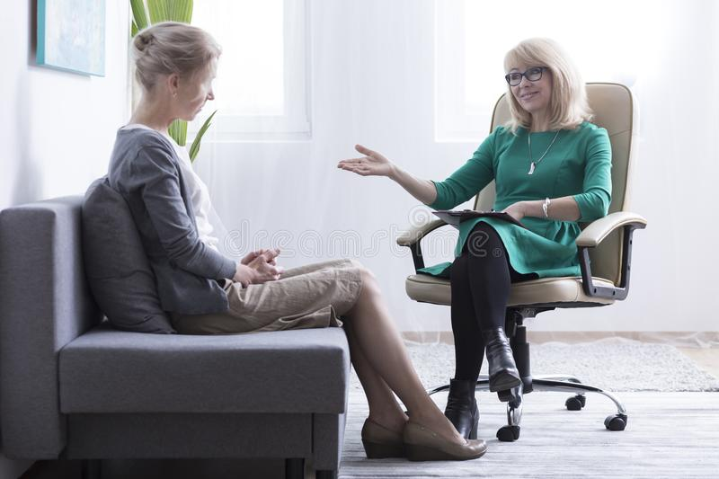 Divorced woman getting mental support stock photos