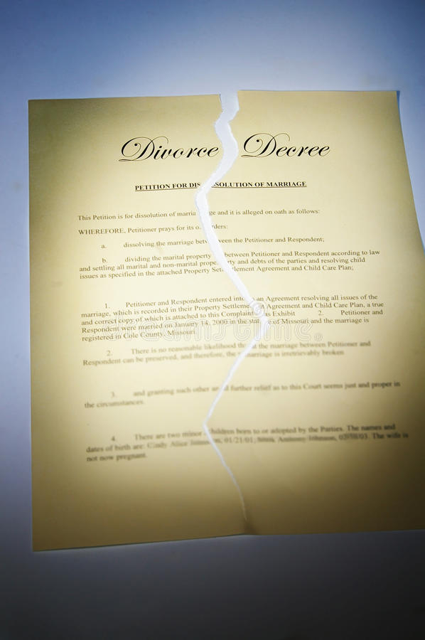 Download Divorce decree stock photo. Image of fight, split, ripped - 18799136