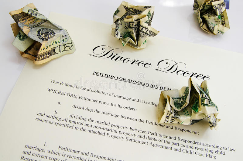 Download Divorce Decree And Cash Royalty Free Stock Images - Image: 16147799