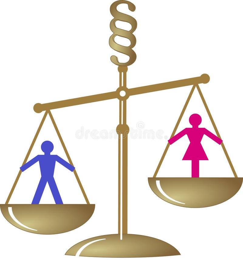 Divorce devant le tribunal illustration de vecteur