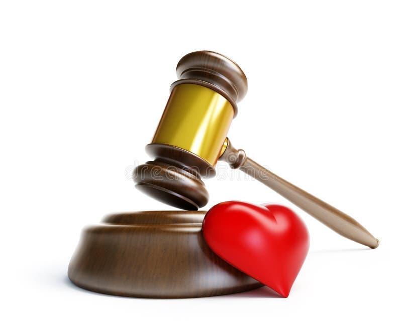 Divorce devant le tribunal illustration libre de droits