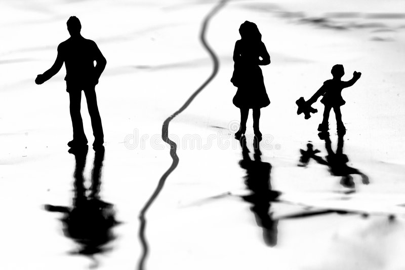 Divorce douloureux photo stock