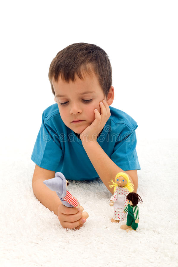 Divorce effect on kids stock images