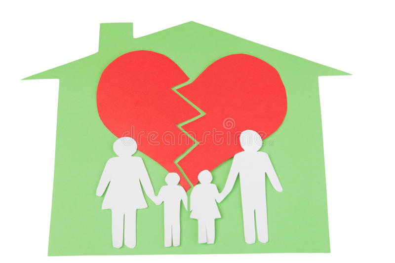 Divorce effect on kids concept with hands stock images