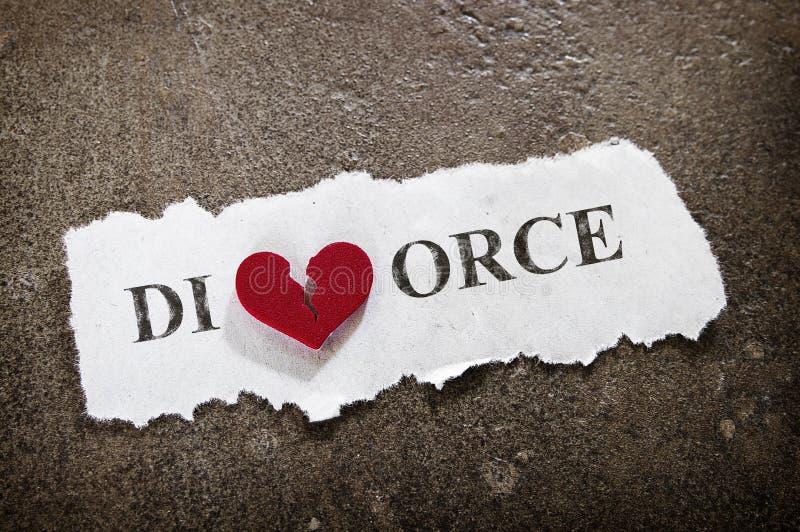 Divorce heart stock photo