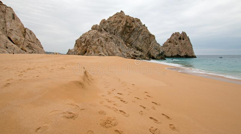 Divorce and Lovers Beach on the Pacific side of Lands End in Cabo San Lucas in Baja California Mexico. BCS stock photography