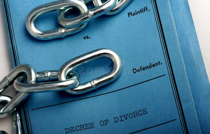 Divorce Papers Stock Images