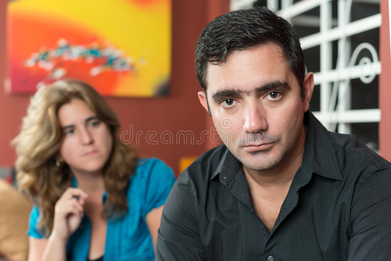 Divorce - Sad husband and wife. Divorce, marital problems - Sad husband and wife royalty free stock photo