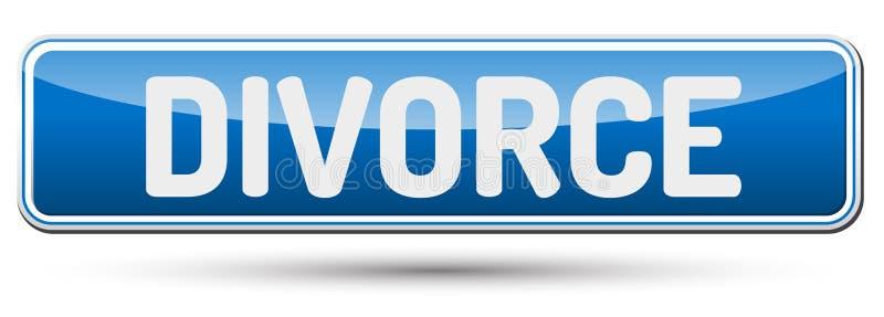 DIVORCIO - Botón hermoso abstracto con el texto libre illustration