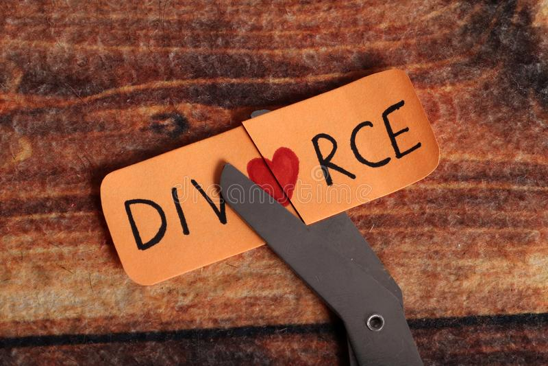 Divorcio fotografía de archivo libre de regalías