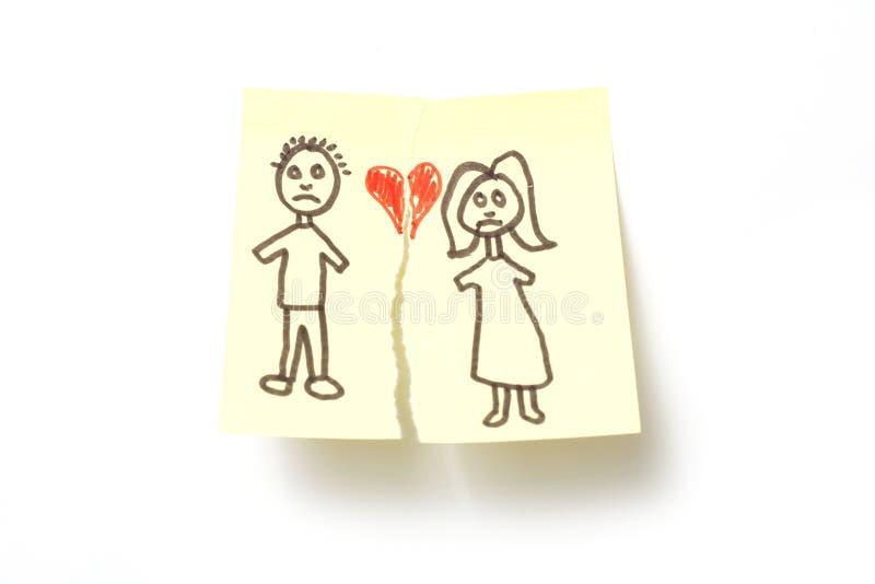 Divorzio immagine stock libera da diritti