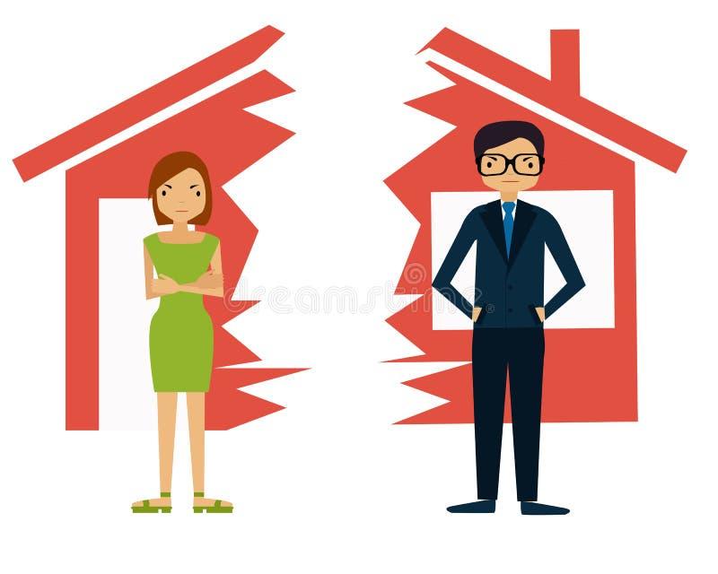 divorzio royalty illustrazione gratis