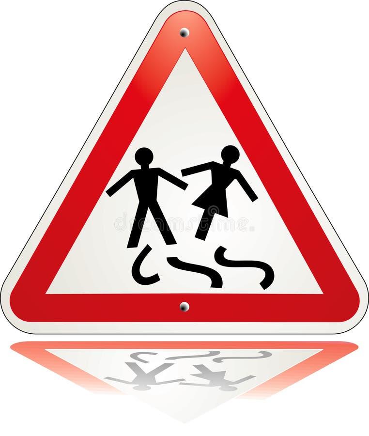 Divorzio d'avvertimento del triangolo illustrazione vettoriale