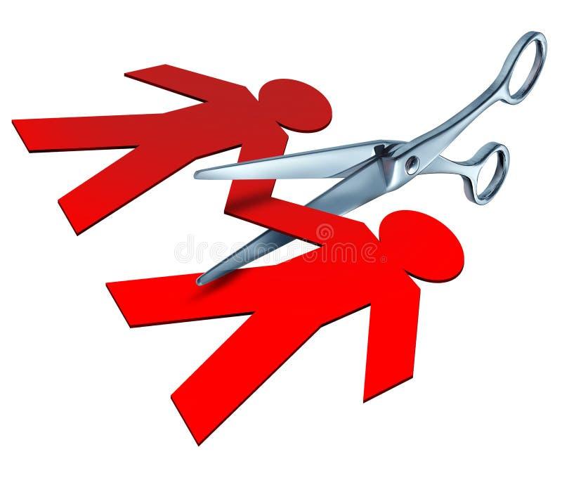 Divorzio e separazione illustrazione vettoriale
