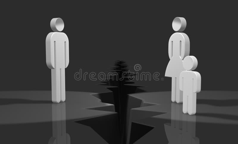 Divorzio triste illustrazione vettoriale