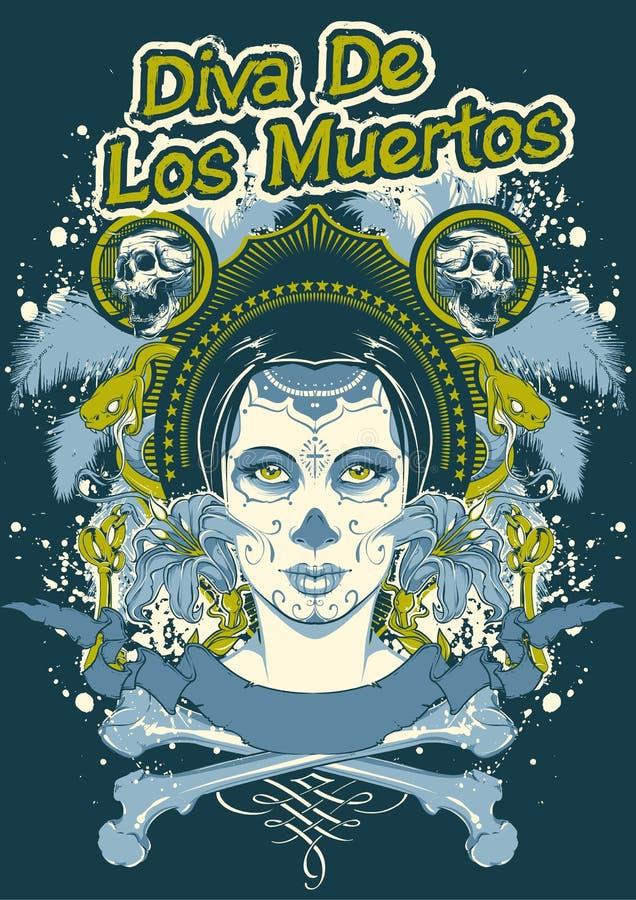 Diwa De Los Muertos ilustracji