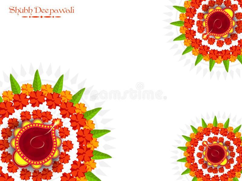 Diwali庆祝的贺卡 库存例证