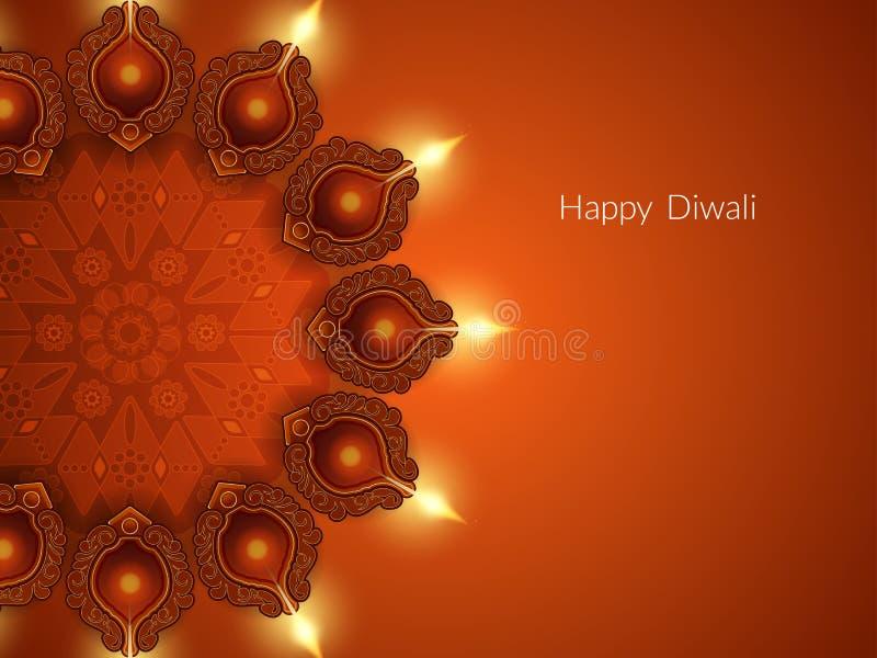 diwali节日的典雅的卡片设计 皇族释放例证