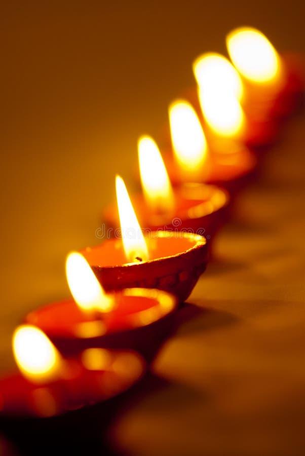 Diwali闪亮指示 免版税库存照片