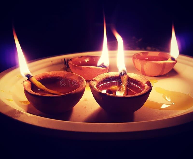 Diwali το φεστιβάλ των φω'των στοκ εικόνα