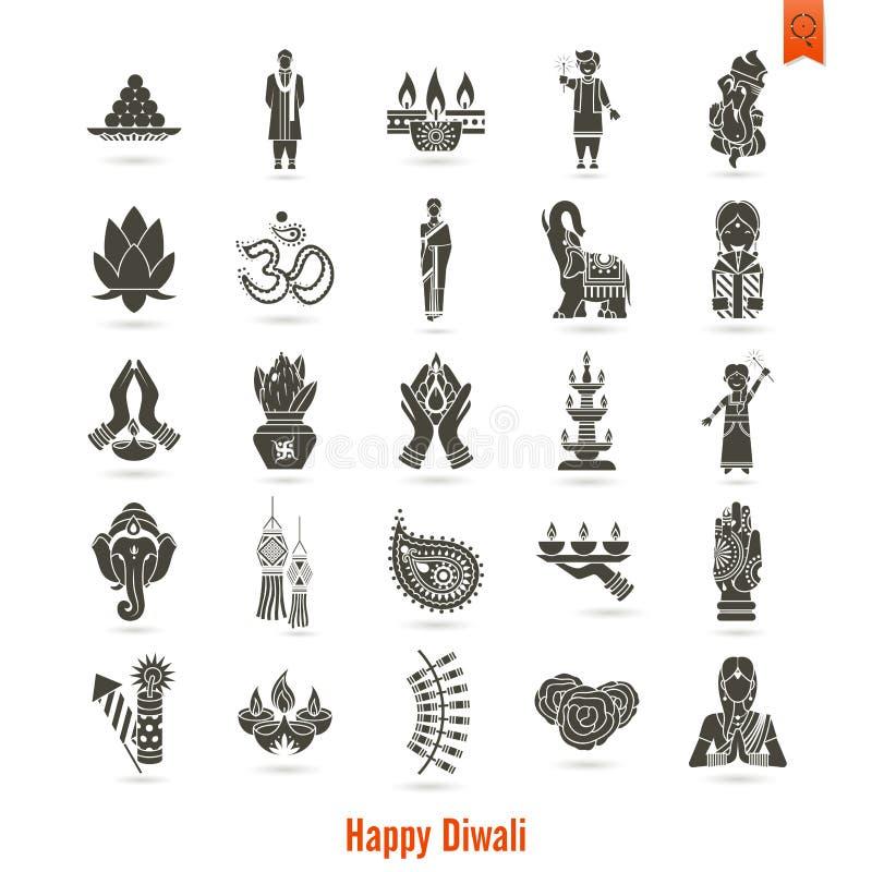 diwali 印地安节日象 库存例证