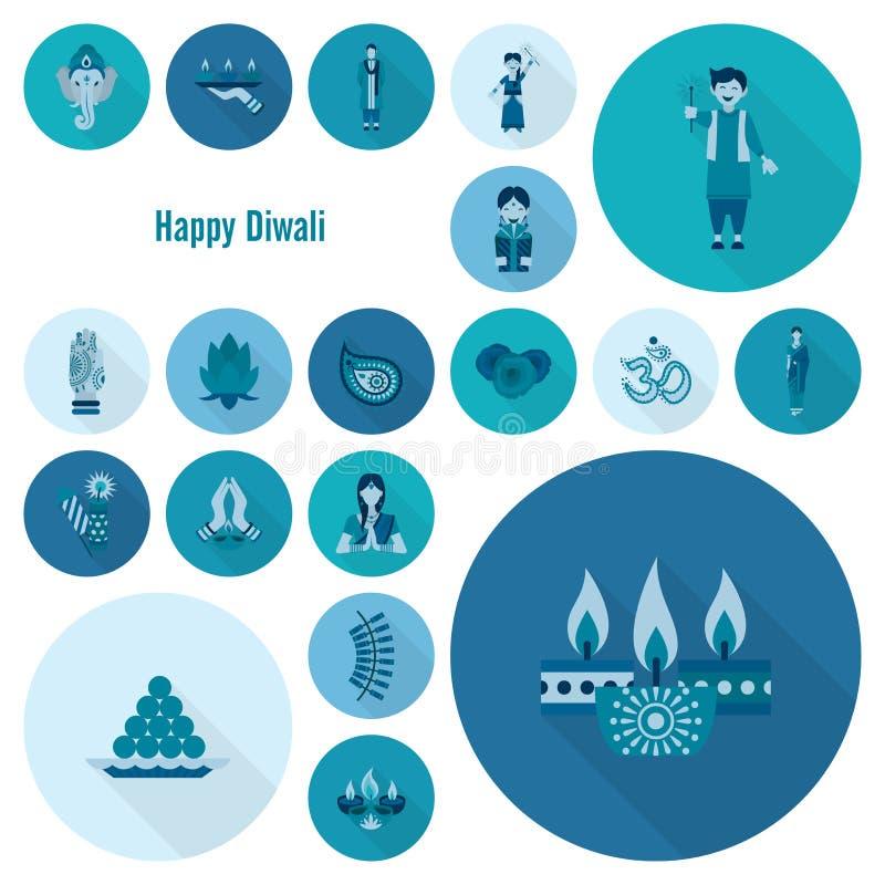 diwali 印地安节日象 向量例证