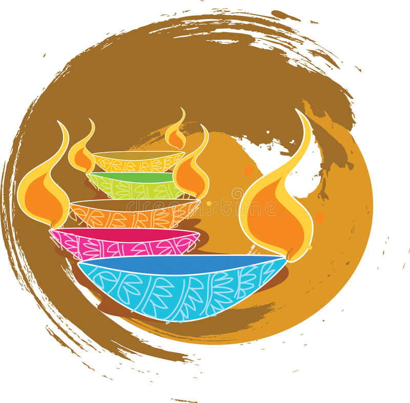 diwali royaltyfri illustrationer
