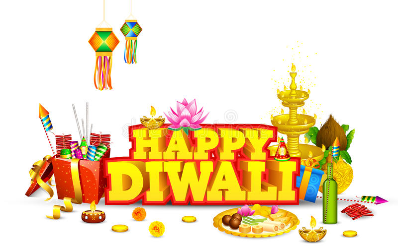 Diwali bakgrund stock illustrationer