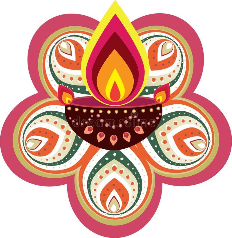 Diwali candle light vector illustration