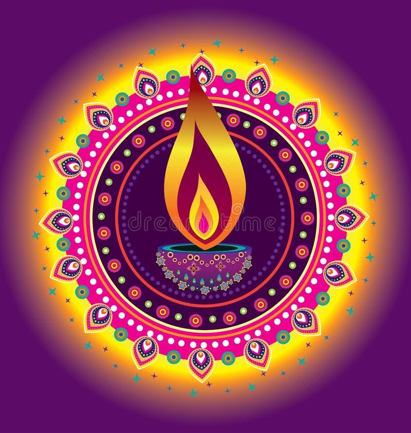 Diwali candle light royalty free illustration