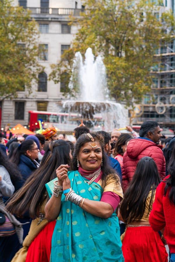 Diwali celebrations in London, UK royalty free stock image