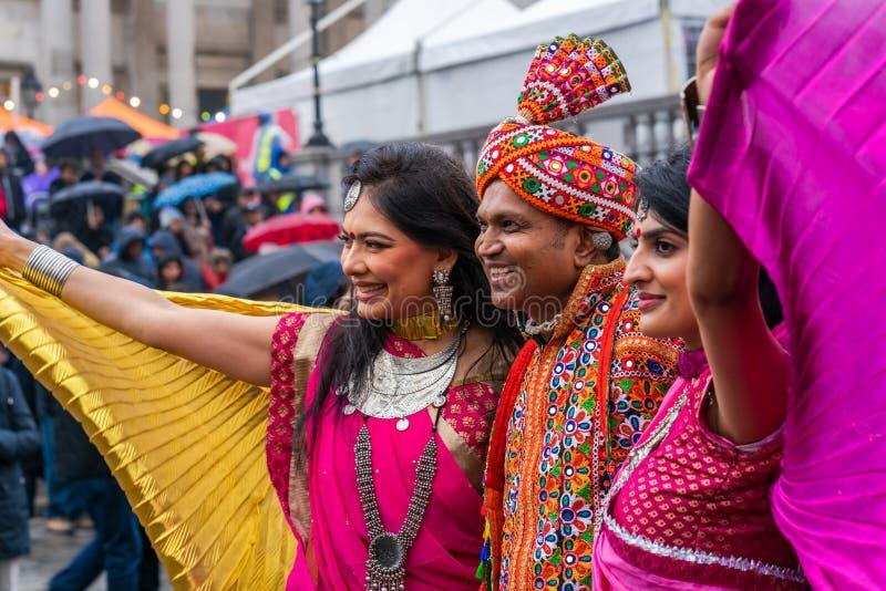 Diwali celebrations in London, UK royalty free stock photos
