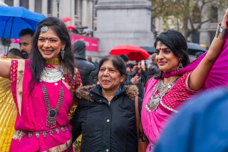 Diwali celebrations in London, UK stock photos