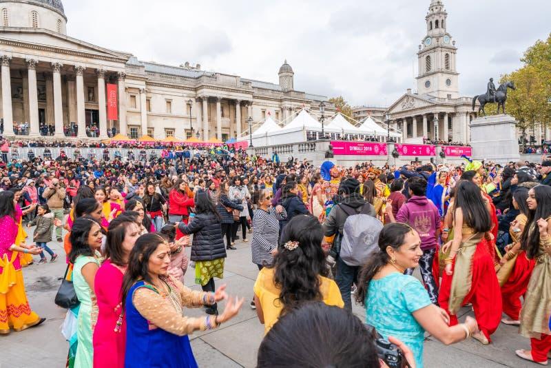 Diwali celebrations in London, UK stock photo