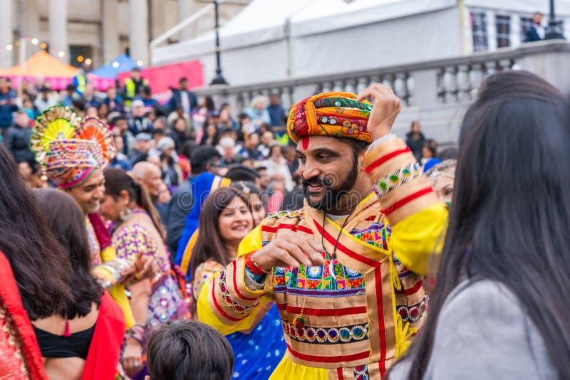Diwali celebrations in London, UK royalty free stock images