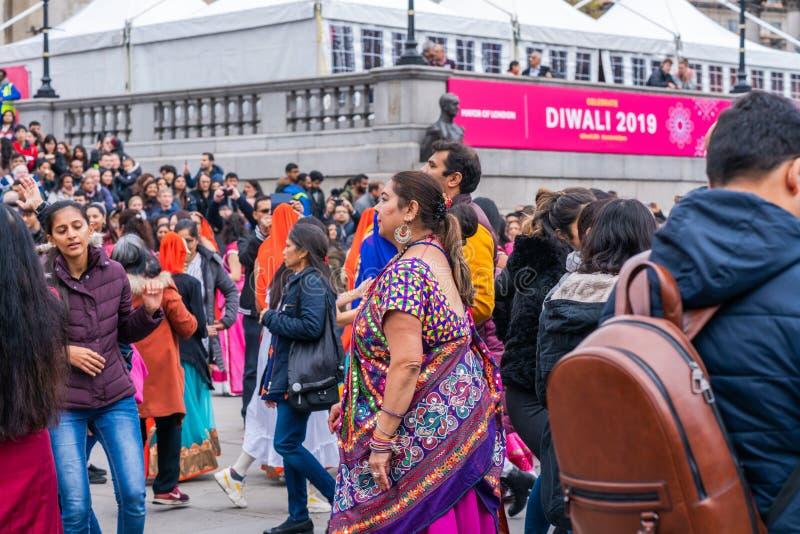 Diwali celebrations in London, UK royalty free stock photography