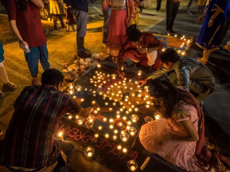 Diwali chez Googleplex images stock