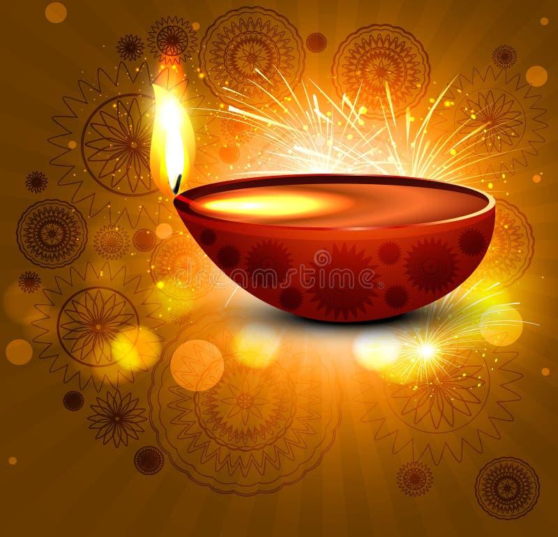 Diwali de la tarjeta de felicitación colorido  stock de ilustración