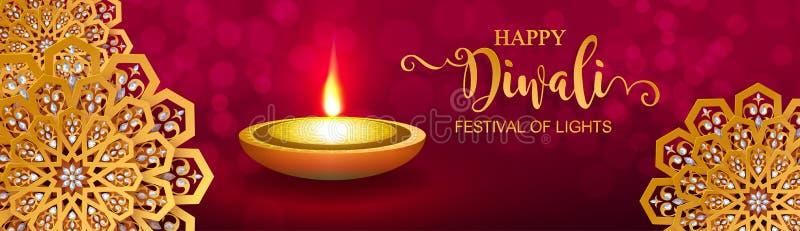 Diwali, Deepavali или Dipavali фестиваль огней бесплатная иллюстрация