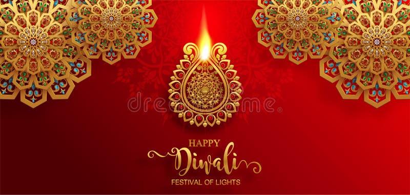 Diwali, Deepavali o Dipavali il festival delle luci immagine stock