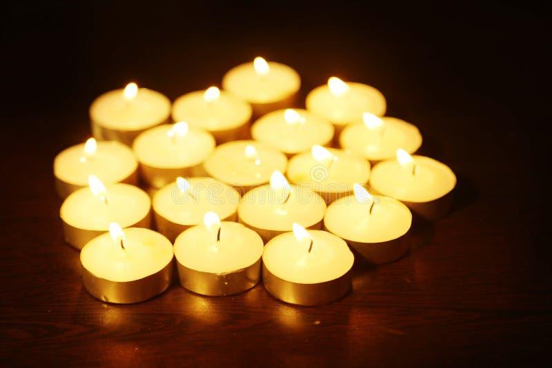 Diwali dekoracje lub świeczki światło przy Diwali festiwalem zdjęcie royalty free