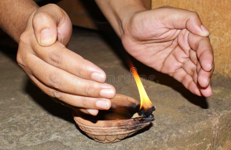 Diwali Diya imagenes de archivo