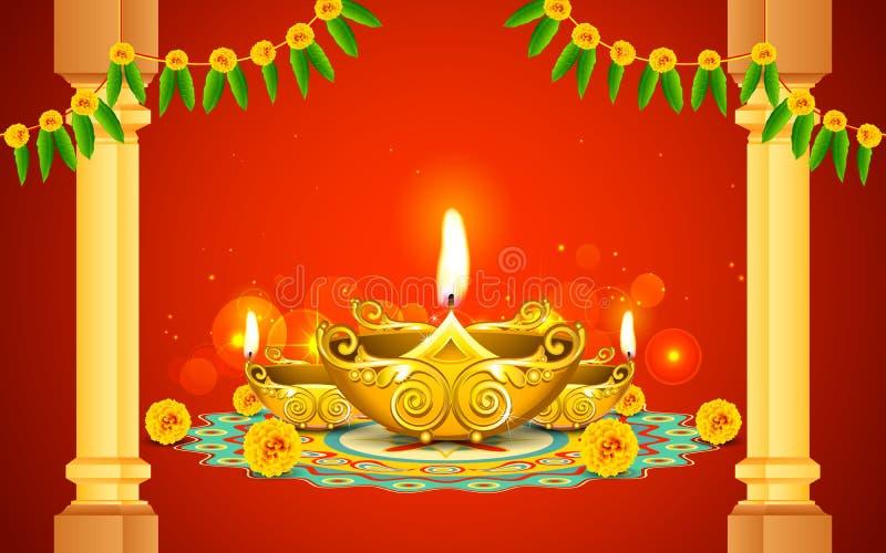 Diwali Diya ilustracji