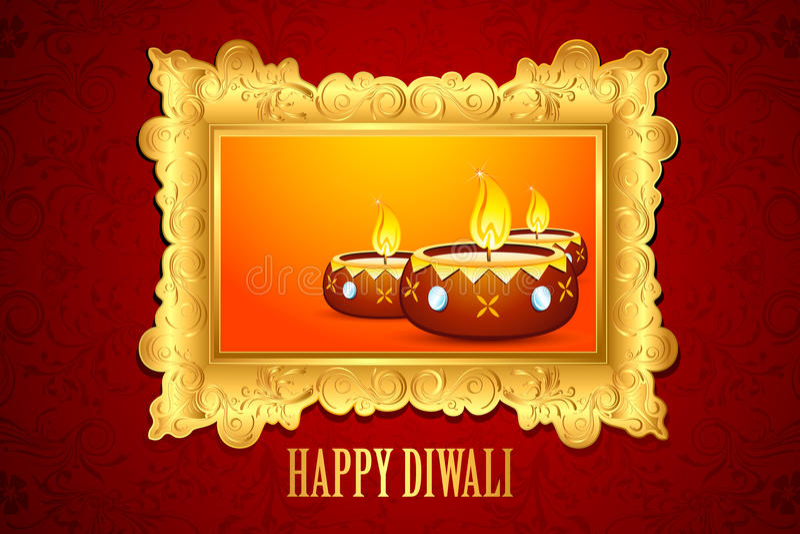 Diwali Diya royalty illustrazione gratis