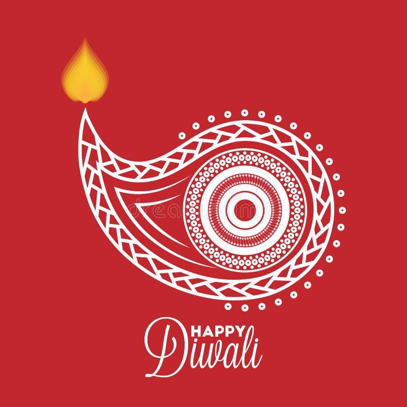 Diwali diya 向量例证